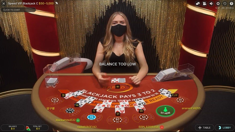 Zodiac Casino Live Blackjack