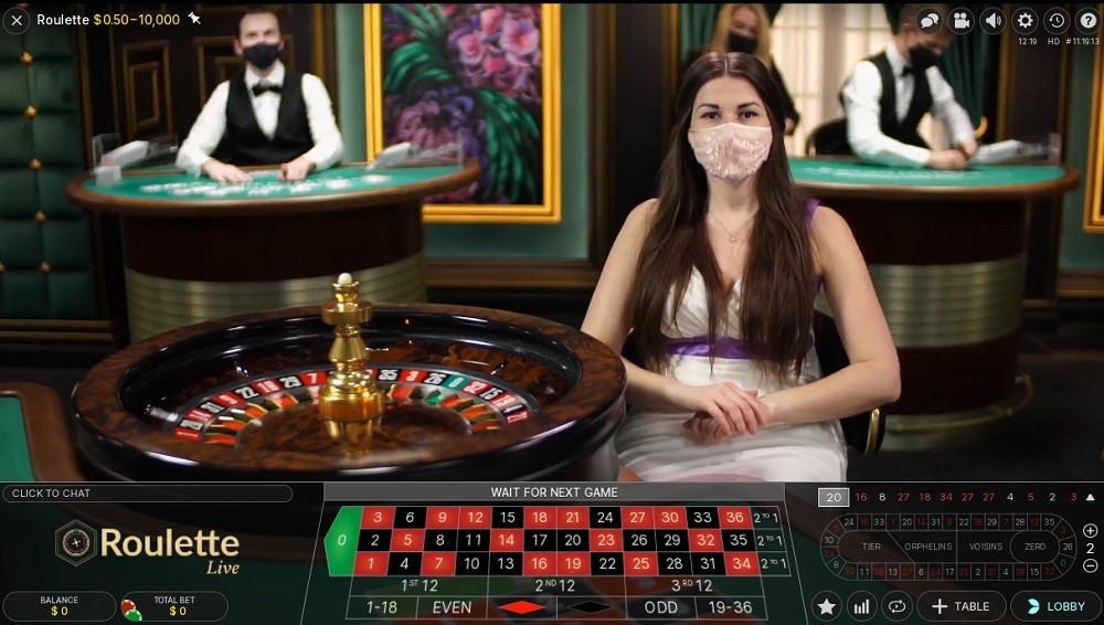 Zodiac Casino Live Roulette
