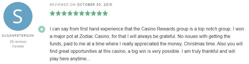 Zodiac Casino Player Review 4