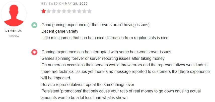 Zodiac Casino Player Review