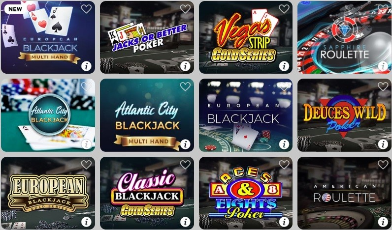 BetWay Casino Automated Casino Table Games