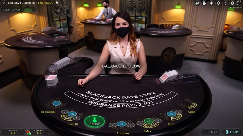 BetWay Casino Live Blackjack