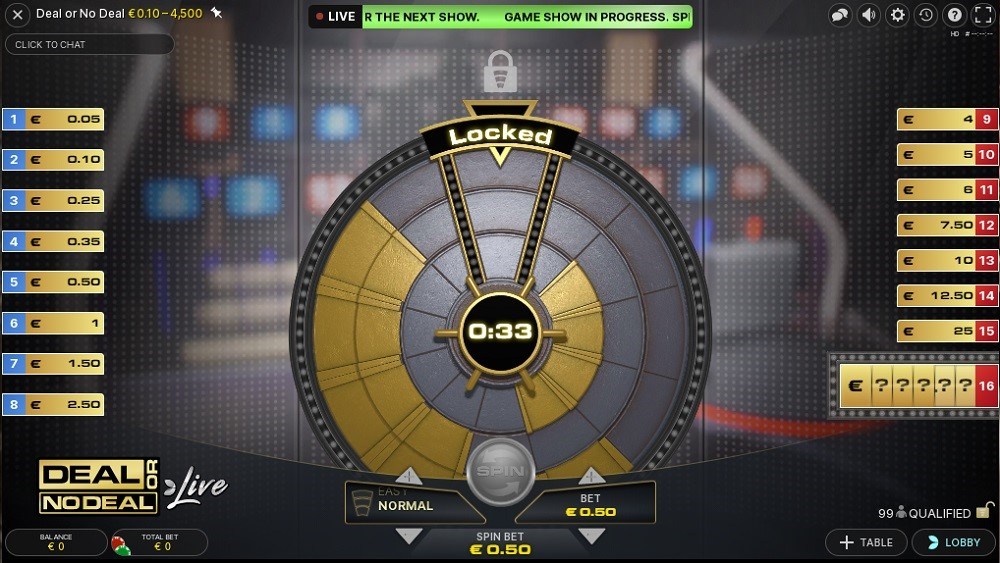 BetWay Casino Live Game Show