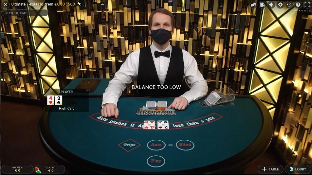 BetWay Casino Live Poker