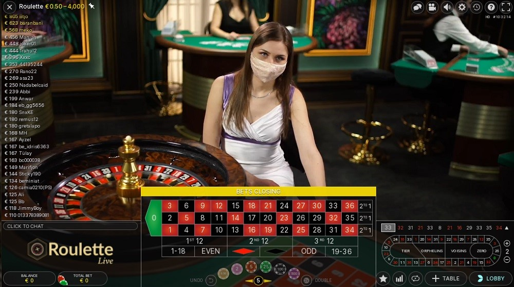 BetWay Casino Live Roulette