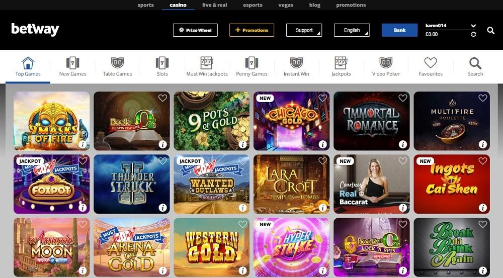 BetWay Casino Members Area