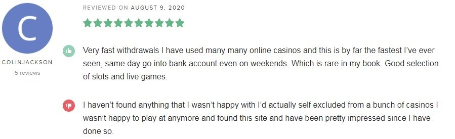 BetWay Casino Player Review 3