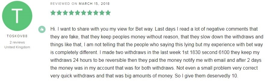 BetWay Casino Player Review 4