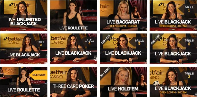 Betfair Casino Live Casino Games