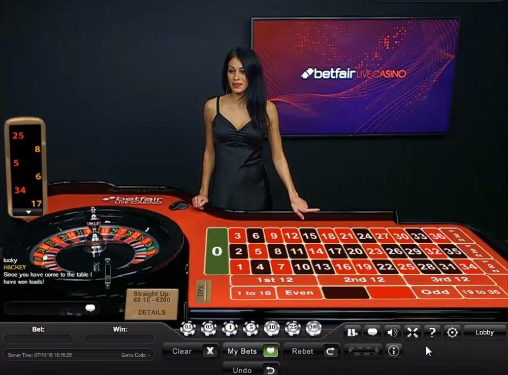 Betfair Casino Live Roulette