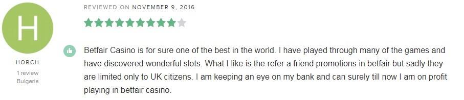 Betfair Casino Player Review 4
