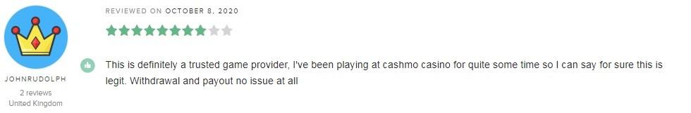 Cashmo Casino Player Review 4