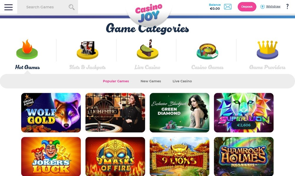 Casino Joy Members Area