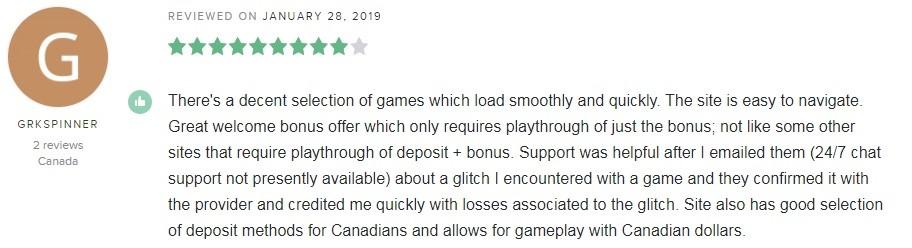 Casino Joy Player Review 5