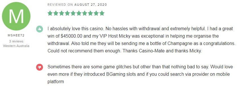 Casino Mate Player Review 2