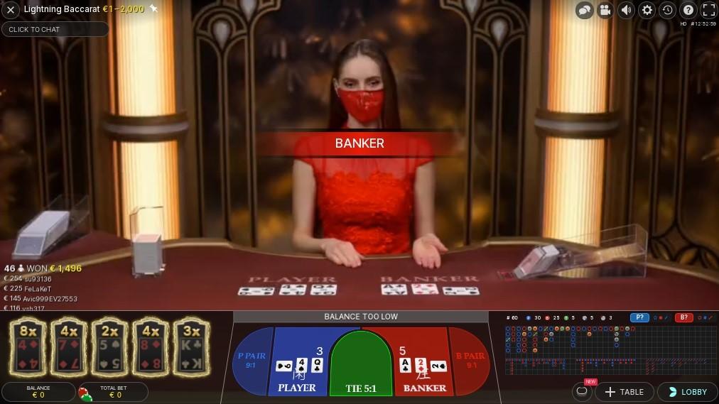 Casino Metropol Live Baccarat