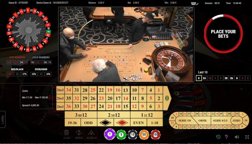 Casino Metropol Live Roulette