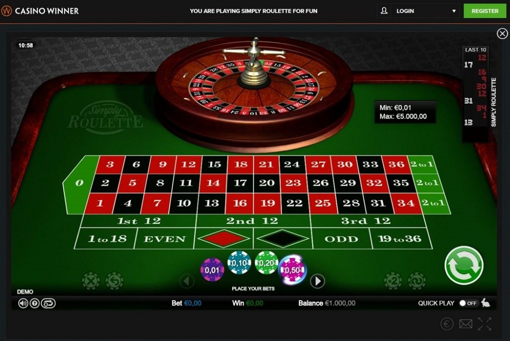Casino Winner Automated Roulette