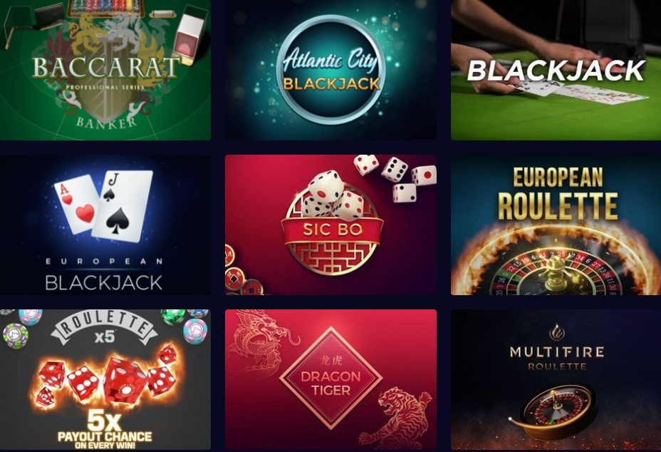 Genesis Casino Automated Casino Table Games