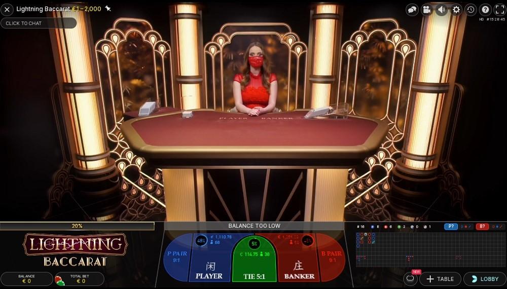 Genesis Casino Live Baccarat