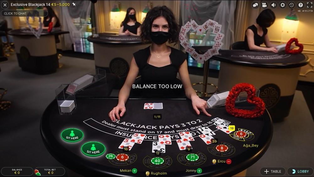 Genesis Casino Live Blackjack