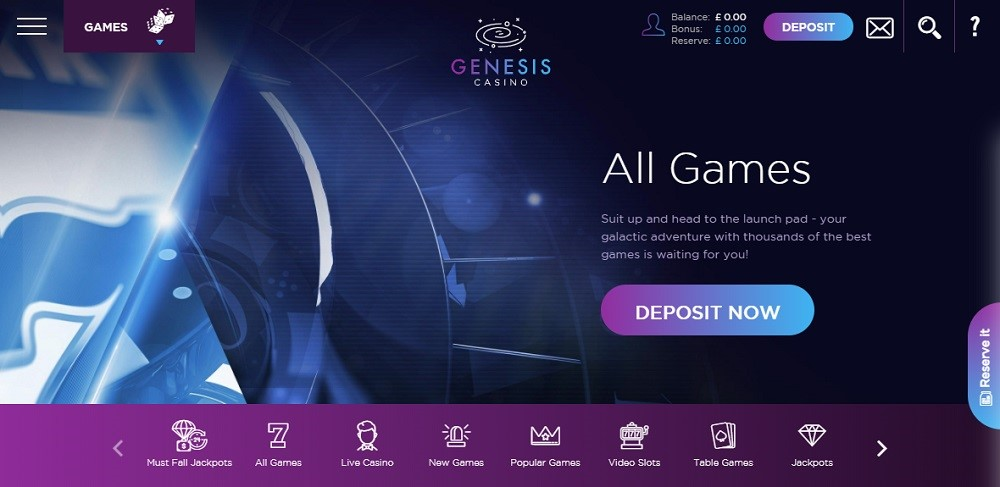 Genesis Casino Members Area