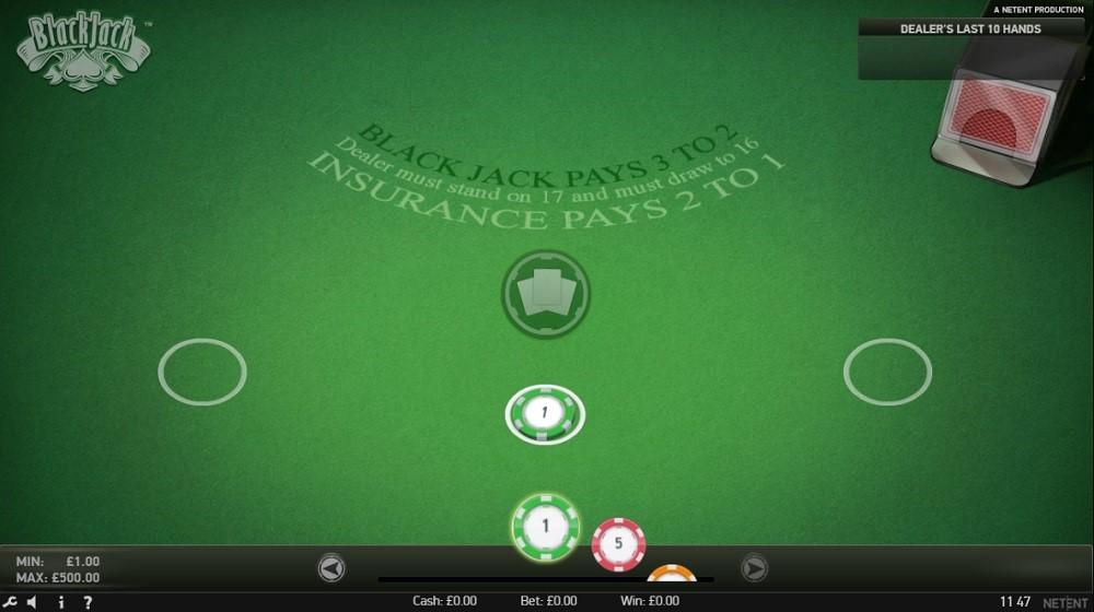 GentingBet Casino Automated Blackjack