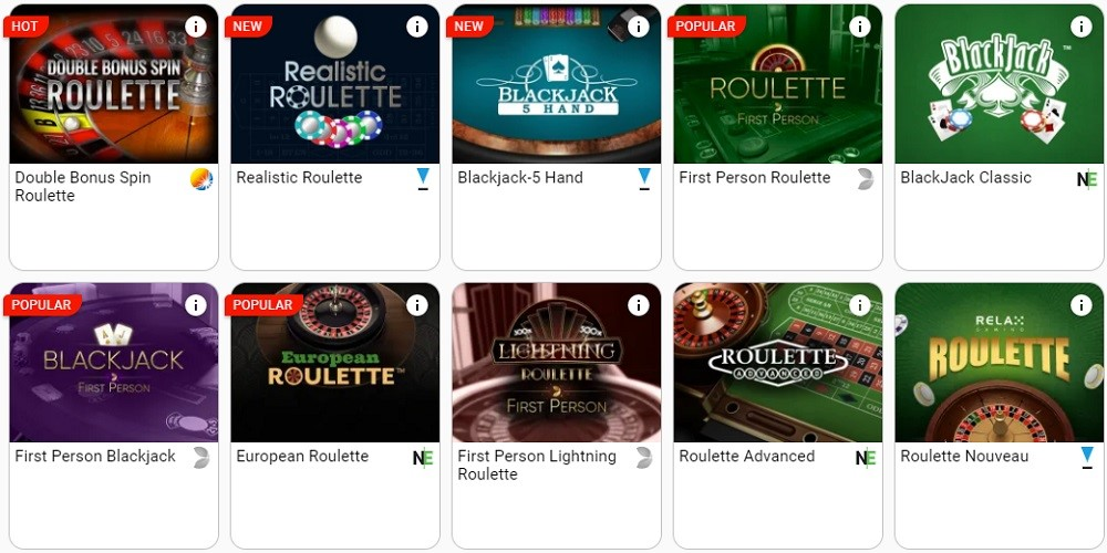 GentingBet Casino Automated Casino Table Games