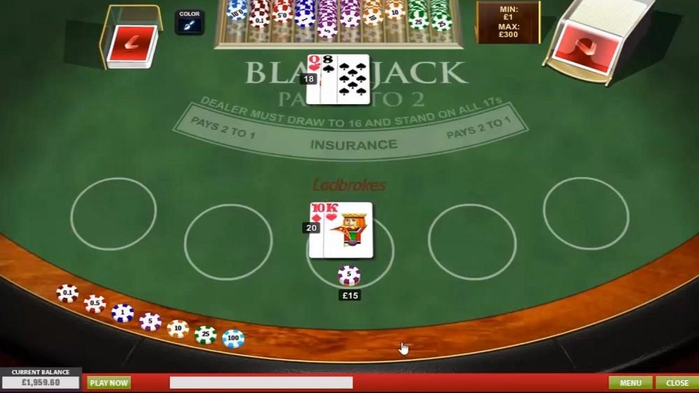 Ladbrokes Casino Automated Blackjack