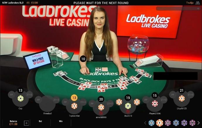 Ladbrokes Casino Live Blackjack