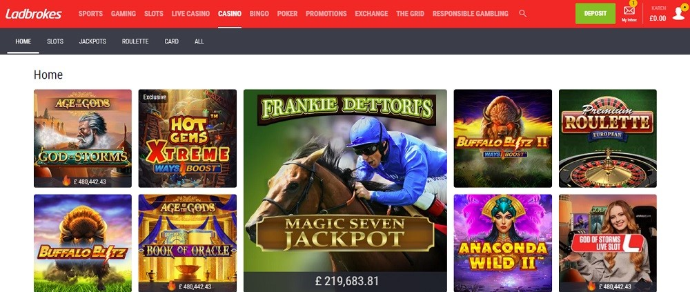 Ladbrokes Casino Members Area