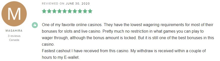 LeoVegas Casino Player Review 3