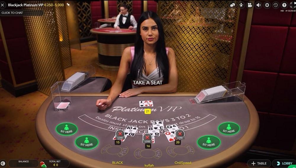 Lucky Casino Live Blackjack