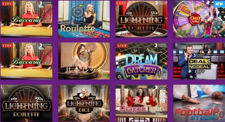 Lucky Casino Live Casino Games