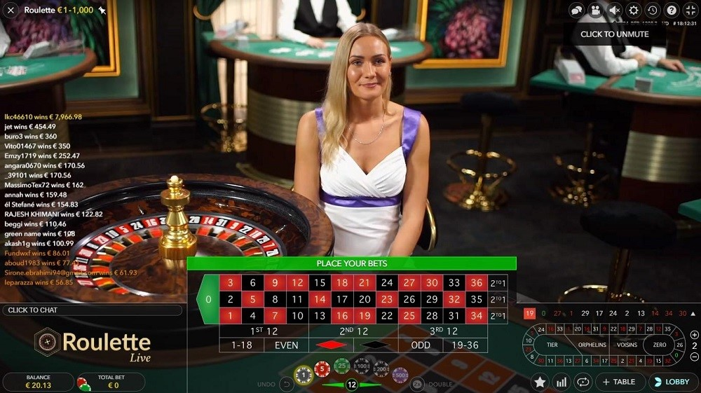 Lucky Casino Live Roulette