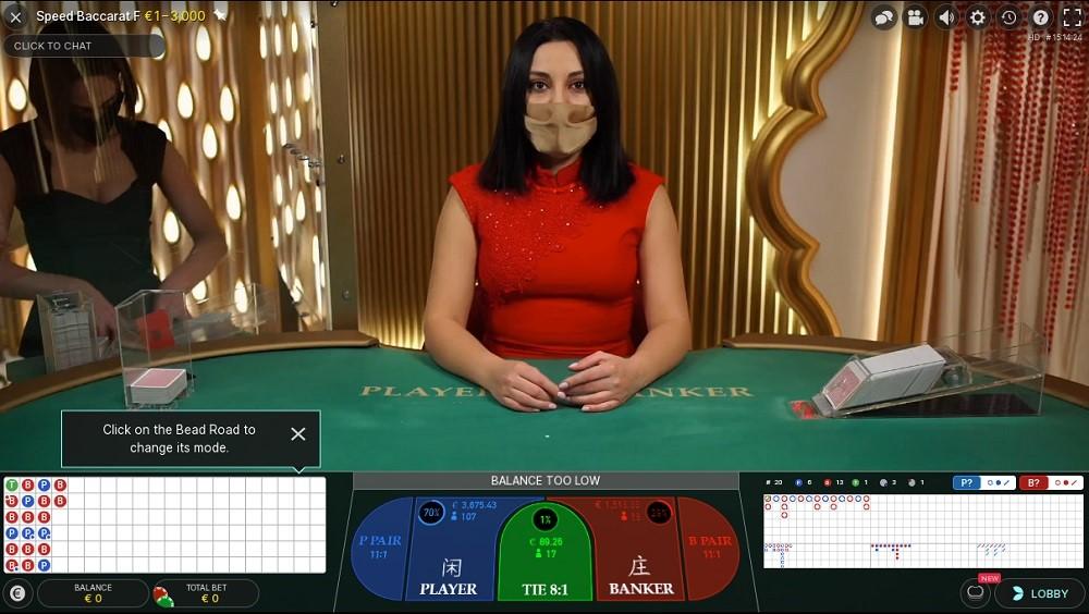 N1 Casino Live Baccarat