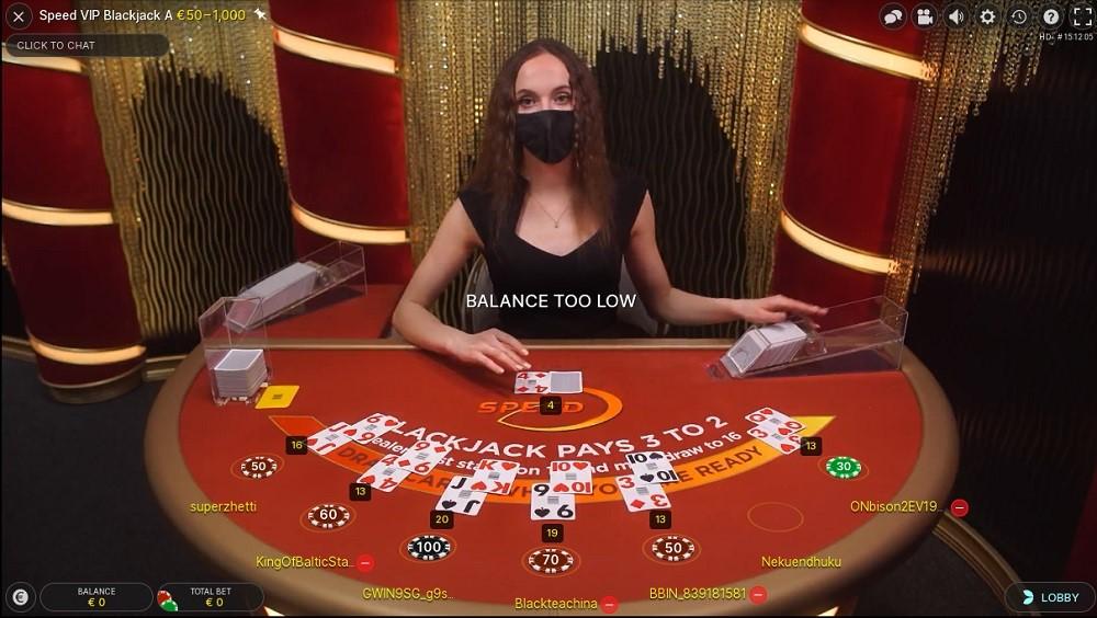 N1 Casino Live Blackjack