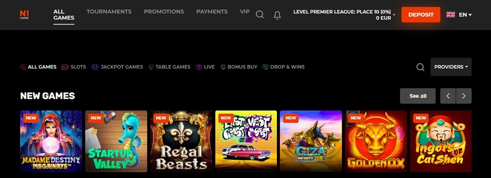 N1 Casino Rewards Program
