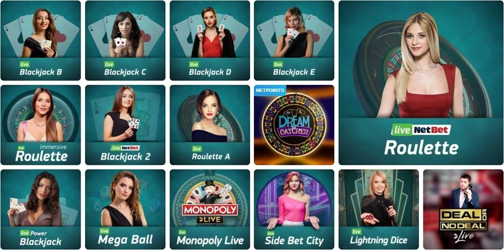 Netbet Casino Live Casino Games