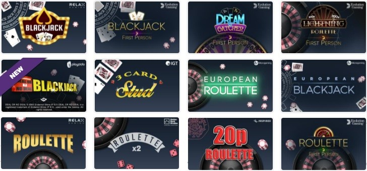 Pink Casino Automated Casino Table Games