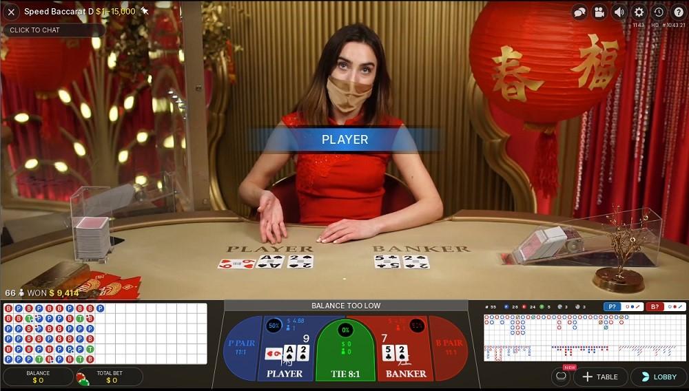 Quatro Casino Live Baccarat