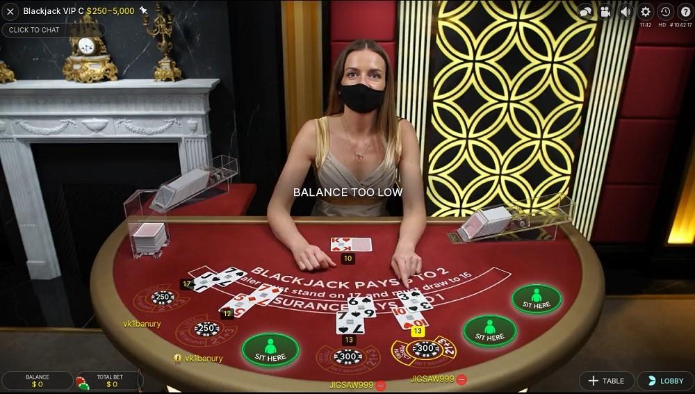 Quatro Casino Live Blackjack