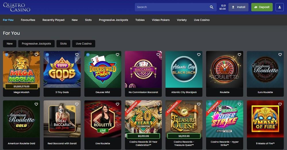 Quatro Casino Members Area
