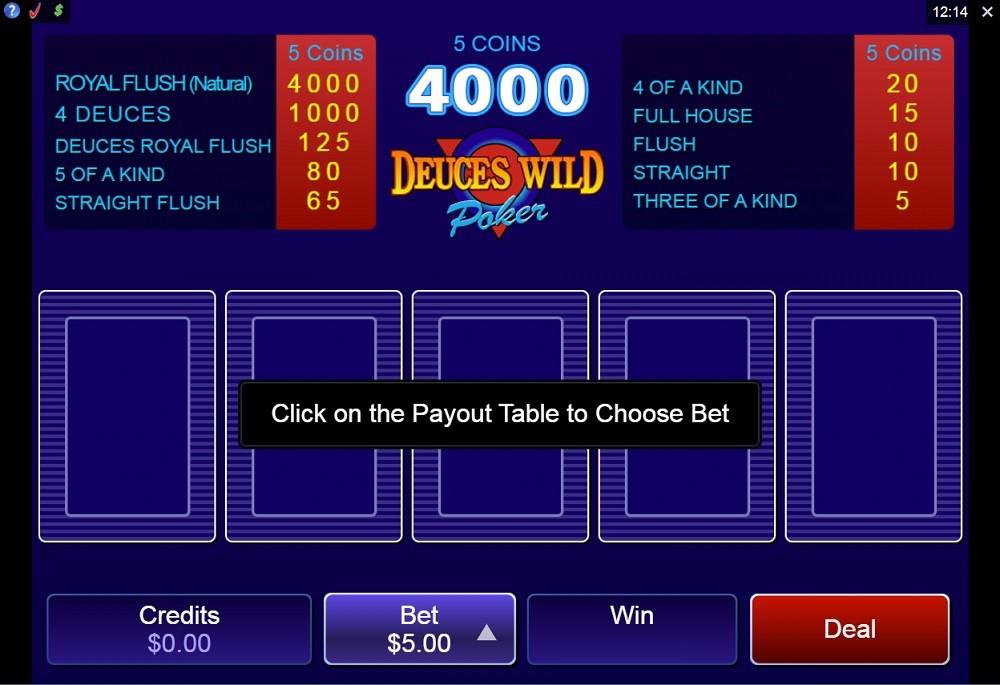 Quatro Casino Video Poker