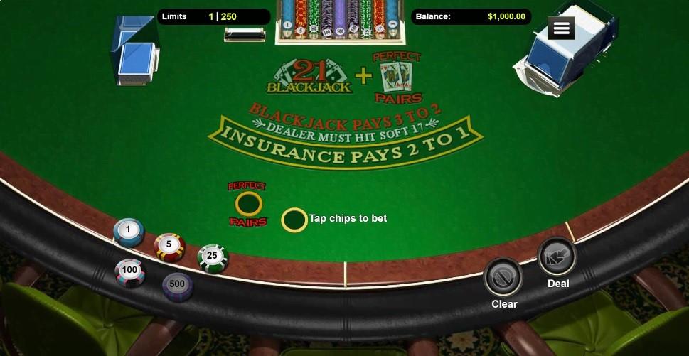 Red Dog Casino Automated Blackjack