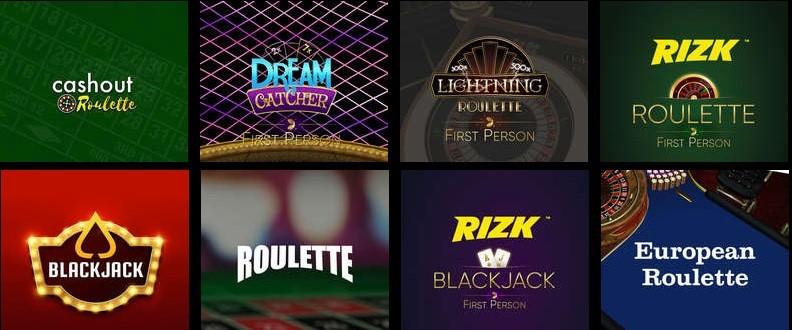 Rizk Casino Automated Casino Games