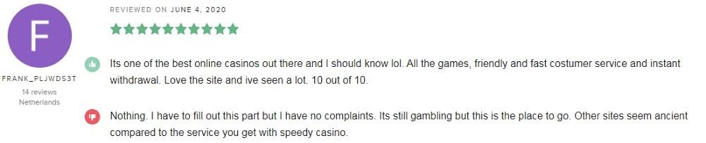 Speedy Casino Player Review 4