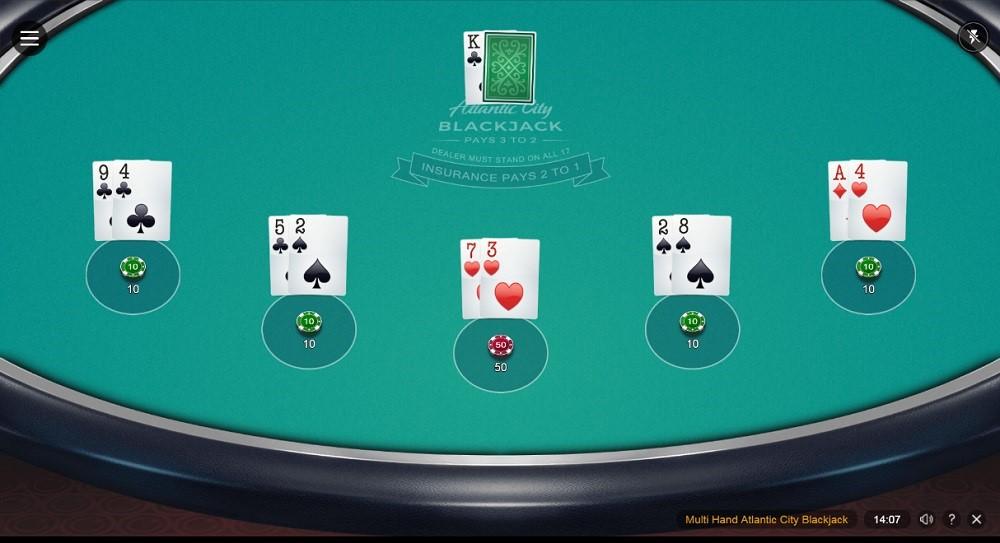 Spin Palace Casino Automated Blackjack