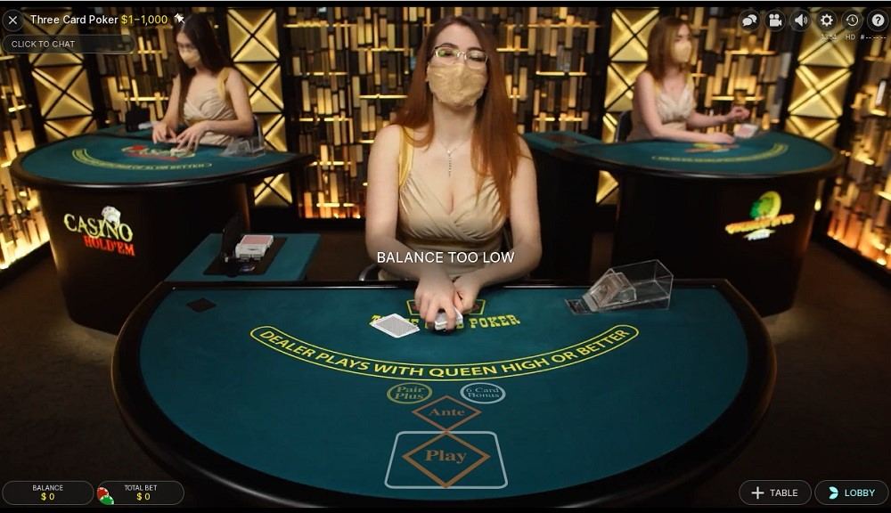 Spin Palace Casino Live Poker
