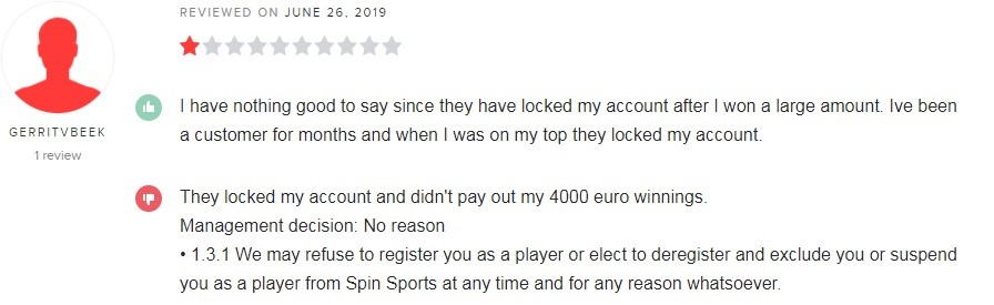 Spin Palace Casino Player Review